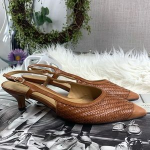 TROTTERS Kimberly Sling back Kitten Heels Shoes